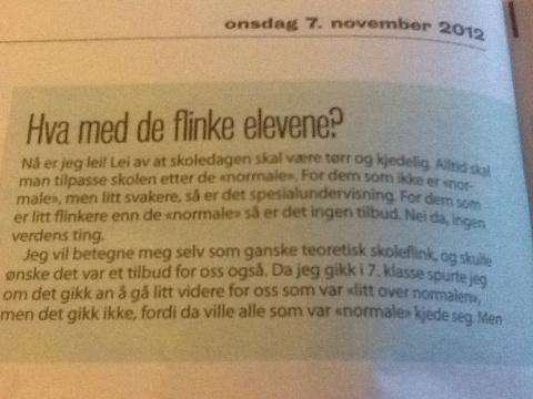 Aftenposten Aften Si;D onsdag 7.11.12
